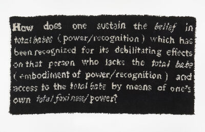 Frances Stark, 'How does one sustain the belief in total babes...', 1991