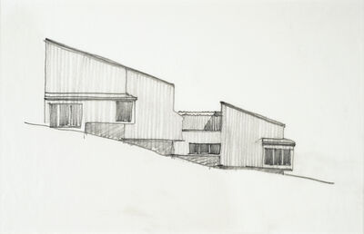 MLTW (Moore, Lyndon, Turnbull, and Whitaker), 'Sea Ranch Condominium, Sea Ranch, California sketch', ca. 1964