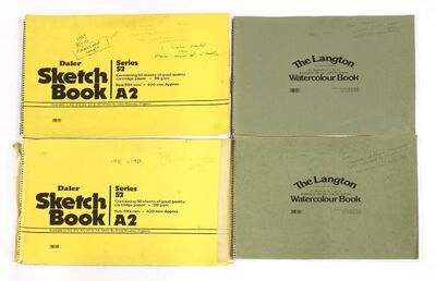 Joan Warburton, 'FOUR SKETCHBOOKS', 1989; 1989, 1990; 1990 , 1992; 1991, 1993