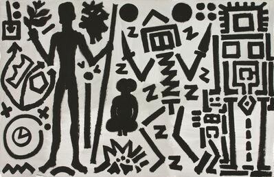"""A.R. Penck, '""""Welt des Adlers IV (World of the Eagle IV)""""', 1981"""