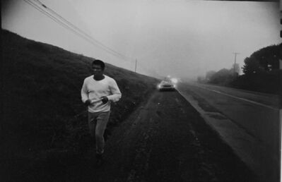 Ken Regan, 'Muhammad Ali doing his road work near his training site in Deer Lake, PA', 1971