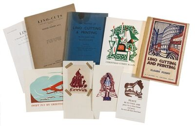 Claude Flight, 'A Collection of Linocut Printing Books and Greeting Cards', circa 1934