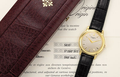 Patek Philippe, 'A fine and attractive yellow gold wristwatch with certificate of origin and presentation box', 1995