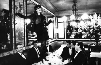 Arthur Elgort, 'Kate Moss at Cafe Lipp, Paris, Vogue Italia', 1993
