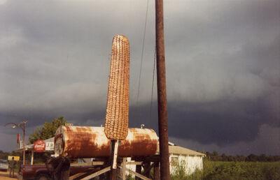 William Christenberry, 'Corn Sign with Storm Cloud, Near Greensboro, Alabama, 1977', 1977