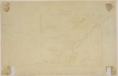 Thomas Cole, 'Mountain Landscape [verso]', ca. 1828
