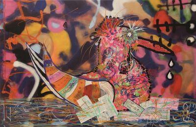 Paul Kostabi, 'Knitting My Identity', 2019