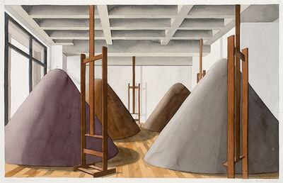 Thomas Huber (b.1955), 'Aushub im Atelier (Juli 14)', 2014