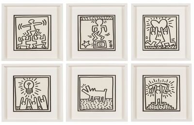 After Keith Haring, 'Untitled (Six Plates)', 1982