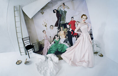 Tim Walker, 'Karen Elson emerging from Loomis Dean's photograph, 'Made to Order, Christian Dior'. London, 2014', 2019