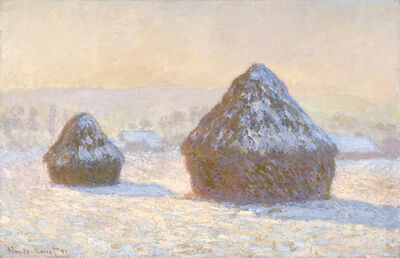 Claude Monet, 'Wheatstacks, Snow Effect, Morning (Meules, Effet de Neige, Le Matin)', 1891