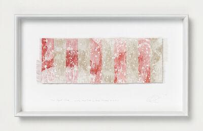 Chiyoko Tanaka, 'Mud Dyed Cloth - White Mud Dots on Red Stripes #6.4.5', 2019