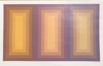 Julian Stanczak, 'Tempo of Three', 1978-1981