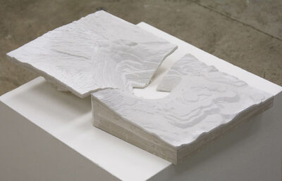 """Dev Harlan, '""""Gale Crater with Bingham Canyon Copper Mine (Two Slabs)""""', 2019"""