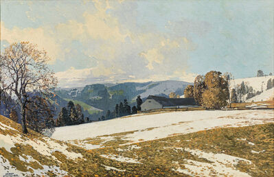 Josef Stoitzner, 'Early Spring in the Alpine Upland', ca. 1920