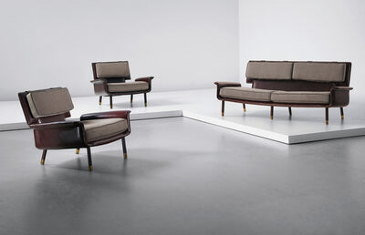 Jacques Quinet, 'Unique set of one sofa and two armchairs', 1963