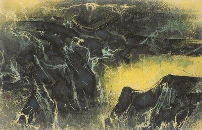 Liu Kuo-sung 刘国松, 'Widespread Springs in Mountains Following Rain 雨後山中處處泉', 1968