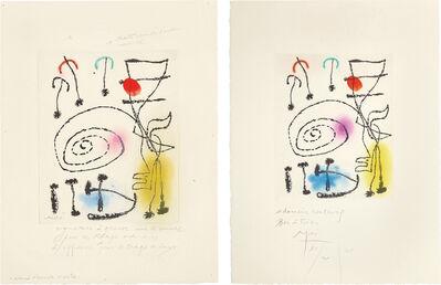 Joan Miró, 'La mesure du temps (The Measure of Time): two impressions', 1960