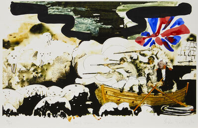 Stephen Farthing, 'Boris Crossing The Thames at City Pier', 2014