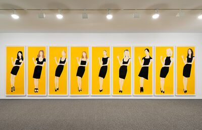 Alex Katz, 'Black Dress- Full Set', 2015