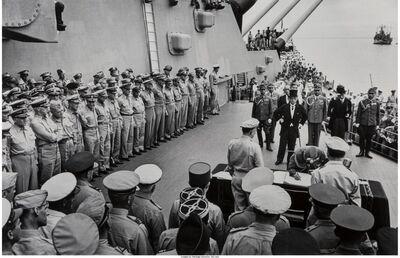 Carl Mydans, 'Japanese Surrender on Board the U.S.S. Missouri in Tokyo Bay', 1945