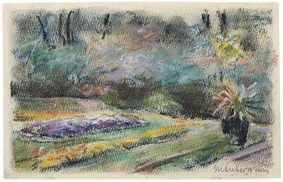 Max Liebermann, 'Die Blumenterrasse im Garten des Künstlers am Wannsee nach Nordwesten', 1927