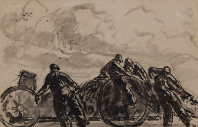 Gifford Beal, 'Unknown (Men Hauling)', 1923