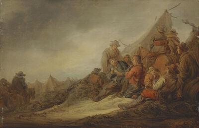 Benjamin Gerritsz. Cuyp, 'Soldiers playing cards at an encampment'