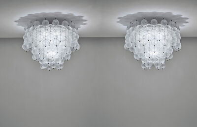 Venini, 'Pair of rare and large 'Balloton' chandeliers', circa 1962
