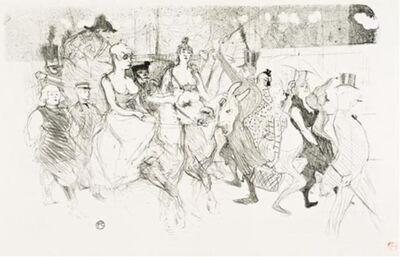 Henri de Toulouse-Lautrec, 'Un Redoute Au Moulin Rouge (A Gala Evening At The Moulin Rouge)', 1893