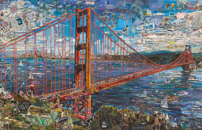 Vik Muniz, 'Postcards from Nowhere: Golden Gate Bridge', 2014