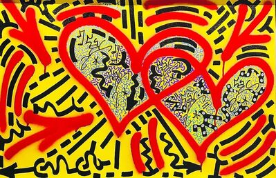 LA II (Angel Oritz), 'Yellow Heart', 2018