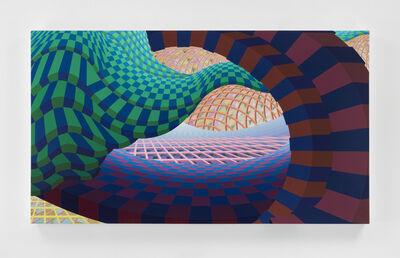 Al Held, 'Blue Wave', 1998