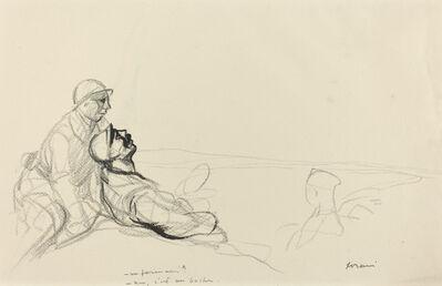 Jean-Louis Forain, '-Un farman?  -non, c'est un boche.', ca. 1914/1919
