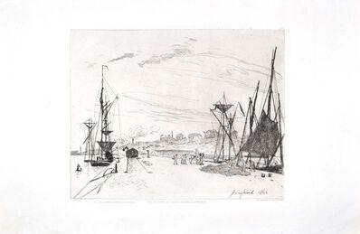 Johan Barthold Jongkind, 'Vue du Port au Chemin de Fer à Honfleur', 1866