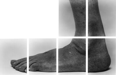 John Coplans, 'Self-Portrait (Sidefoot, 6 Panels, L Shape, n°1)', 1988