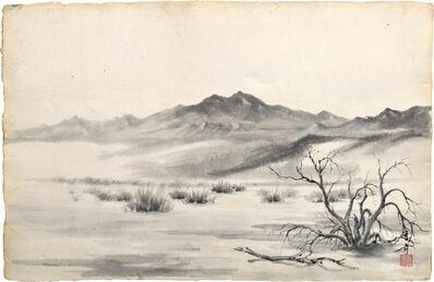 Kakunen Tsuruoka, 'untitled (mesquite tree and brush)', ca. 1942-44