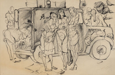 Andy Warhol, 'Women and Produce Truck', 1946
