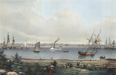 Fitz Henry Lane, 'View of New Bedford.  From the Fort near Fairhaven.', 1845