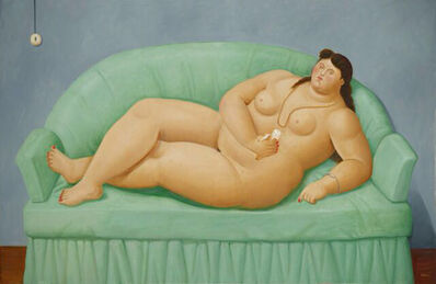 Fernando Botero, 'Naked on Green Sofa', 2013