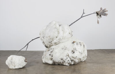 Tony Tasset, 'Snowman in Two Parts', 2017