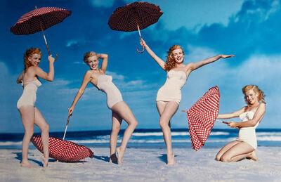 André de Dienes, 'Marilyn with umbrella', 1949