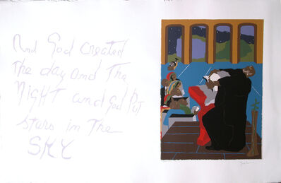 """Jacob Lawrence, 'No. 4. """"And God created the day and the night  and God put stars in the sky.""""', 1990"""