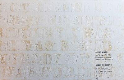 Glenn Ligon, 'Text Paintings 1990-2004 (Signed)', 2004