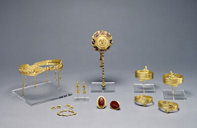 'Collection of Ptolemaic jewelry (16)', 220 -100 BCE