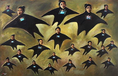 Heri Dono, 'The flying Angels II', 2014