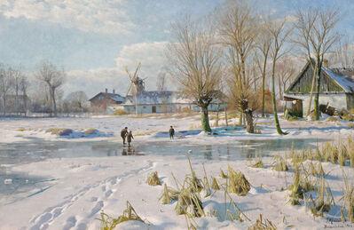 Peder Mork Monsted, 'Winter's Magic', 1922