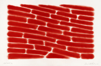 David Nash, 'Red Wall', 2019