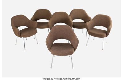 Eero Saarinen, 'Set of Six Executive Arm Chairs, model 71', 1981