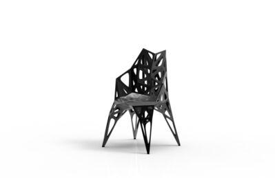 Zhoujie Zhang, 'MC011-F-Black (Endless Form Chair Series)', 2018